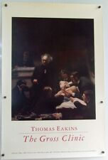 Vintage 1980s Poster THOMAS EAKINS Gross Clinic Early Medical Surgery Jefferson