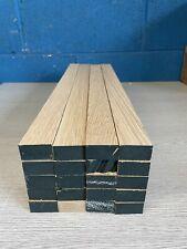 Oak TImber - Natural Wood- Offcuts - Hardwood 20 Pieces 33mm X 18mm X 480mm long