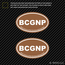 Pair of Black Canyon of the Gunnison National Park Brown Oval Sticker Euro BCGNP