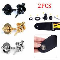 silber Gurtpin Security Lock End Pin Gurtknopf für diverse Gitarren