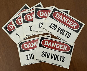 Brady 5-120 Volt, 2-240 Volt Danger Stickers