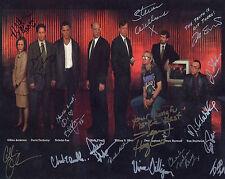 X-Files Cast  8 x 10 Autograph Reprint   David Duchovny   Gillian Anderson  +14