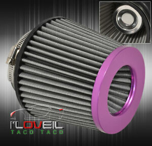 """For Smart 2.5"""" Jdm Mesh Air Cold Short Intake Filter Dry Cone Performance Purple"""
