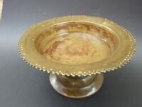 ANTIQUE ISLAMIC BRONZE  BOWL -STAND  MIDDLE  EASTERN DECORATIVE  VINTAGE ART