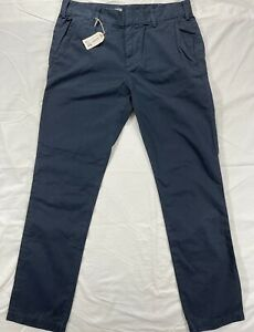 Made In USA $140 New W/Tags Save Khaki United Navy Blue Chinos Pants 34x32 Men