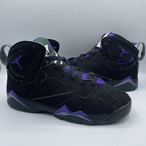 "Air Jordan 7 retro ""Ray Allen"" Bucks Black Purple Size 6y"