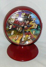 "BAKUGAN ALARM CLOCK BATTERY OPERATED RED  5.5"" ANIME CARTOON COLLECTIBLE"