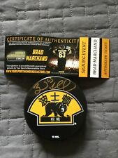 Brad Marchand Signed Boston Bruins China Games Puck, COA, 2018, Autographed