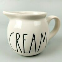 Rae Dunn - Ceramic CREAM Pitcher - Round Creamer Pour Spout & Handle Magenta LL