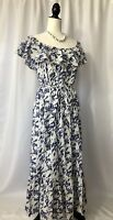 Grace Elements Ruffled Off The Shoulder Cotton Dress Women's Size XL