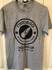 Chicago Sport & Social Club Men's T-Shirt Size Small Gray Cotton Festival Cool