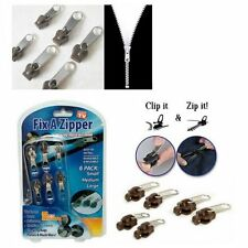 6Pcs/set TV Fix A Zipper Zip Slider Rescue Instant Repair Kit Replacement Hot
