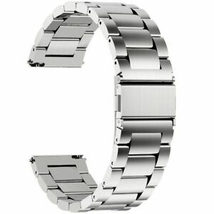 18/20/22mm Stainless Steel Watch Band Strap Metal Replacement Wrist Bracelet