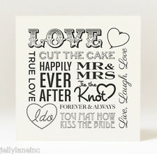 Handmade  Mr and Mrs Love Wedding Card
