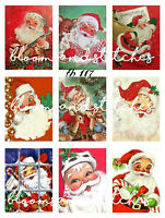 Christmas JOLLY SANTA ICONS cotton fabric Size 55 cm x 50 cm larger available
