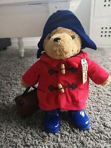 Rainbow Designs  Paddington Bear Plush Toy, Red coat,blue hat  35cm