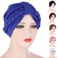 India Turban Muslim Women Hijab Braid Headscarf Head Wrap Cancer Chemo Cap Cover