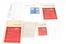 Divers manuels pour calculatrices HP Hewlett Packard - Module horloge mémoire...