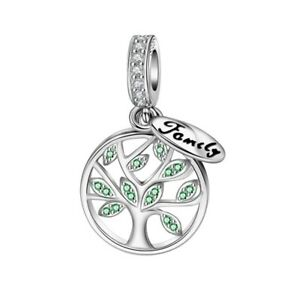 SOLID Sterling Silver Hanging Family Tree of Life Charm by YOUnique Designs