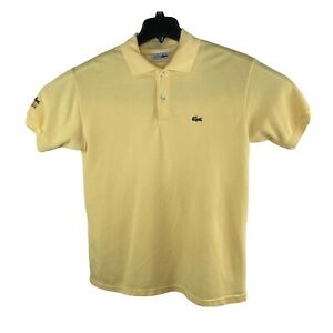 Vintage Chemise Lacoste Polo Shirt Yellow Green Crocodile Made In France XXL GUC