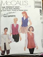 VINTAGE McCALL'S ' THE PERFECT VEST ' Palmer Pletsch ref 8804 SIZE 18