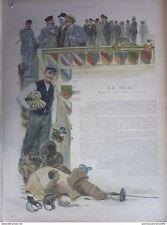 1893 I9- DUEL UNIVERSITE ALLEMANDE ETUDIANT CORPORATION INSIGNE MENSUR ARBITRE