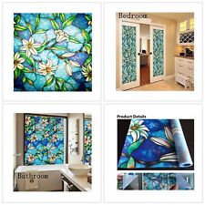 Stained Glass Privacy Window Film Frosted Static Cling Stickers Decor 45 x 200cm