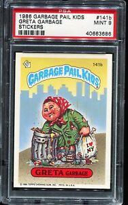 1986 Garbage Pail Kids Stickers #141b GRETA GARBAGE PSA 9 MINT