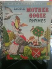 Rare: MORE MOTHER GOOSE NURSERY RHYMES Little Golden Book 1974 H/C (G/C)