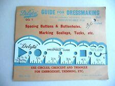 """Delyta 6"""" Dressmaking Gauge for Spacing Buttons & Marking Tucks Crescents etc."""