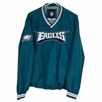 Philadelphia Eagles V-Neck Pullover Medium Green Gray NFL Team Apparel VTG