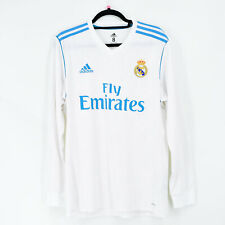 2017-18 Real Madrid Player Issue Home Shirt Adizero Size 8 L/S Jersey