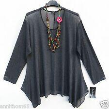 SARAH SANTOS Basic Shirt Untershirt Zipfelshirt Longshirt XXL 52 54 Lagenlook