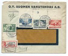FINLAND: Registered cover Jokela 1938. Scarce franking.