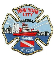 FDNY FIRE PATCH CITY of NEW YORK FIREBOAT 343 MARINE RESCUE