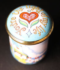 HALCYON DAYS Battersea  You're The Light of my Life  Enamels TRINKET BOX