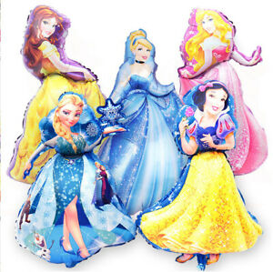 """37""""Disney Princess Foil Balloons Birthday Party Decorations Supplies Girls Belle"""