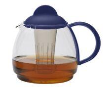 Teekrug 1.8l - blau Trendglas Jena hitzebeständig mit Filter Mikrowelle