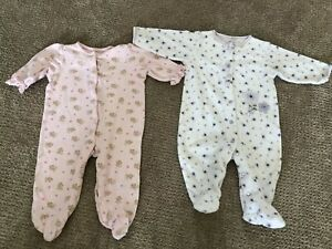Infant Girls One Piece Outfits Lot Of 2 Little Me And Carters Size 6 Mths