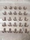 25 SMALL HOOKS COAT CAP HANGERS HALL TREE ENTRYWAY RUSTIC STORAGE LOT