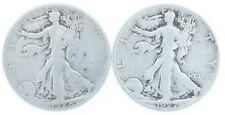 1927-S 1928 S US Mint Silver Walking Liberty Half Dollar Halves VG Coins