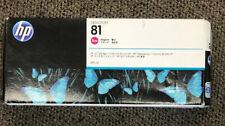 HP designjet Magenta Dye 81 Ink Cartridge #C4932A Exp 6/14/2020 Genuine Brand!