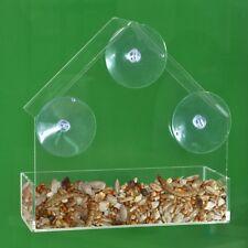 Ambassador Acrylic Window Bird Feeder with Food Tray - FREE P&P