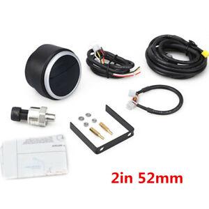 2in 52mm Digital Display  0 ~ 10 Bar 12v/24v Car Oil Pressure Gauge Meter+Sensor