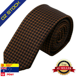 Brown Plaid Narrow Tie Maroon Gift Items Designer Presents By Epoint PS1051