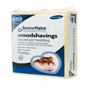 Snowflake Wood Shavings Natural Bedding Rabbits Hamsters Gerbils Mice X Large