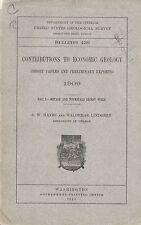 Randsburg Calif gold mines, rare 1910 1st-ed report: locations, geology, history