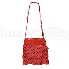 Sac FLAMENCO ESPAGNOLE noir rouge belle frange traditionnel Pois Dotty NEUF