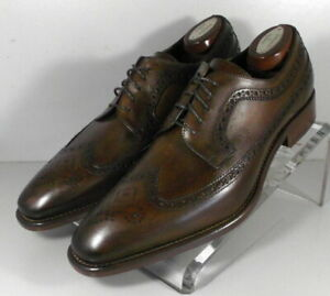 242942 MSi60 Men's Shoes Size 10.5 M Brown Leather Made in Italy Johnston Murphy