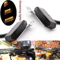 2x Mini LED Motorcycle Turn Signals Indicators Blinker DC Lamp 12V Light B1Y4
